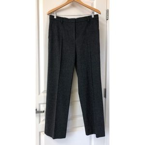 Max Mara Charcoal Heather Gray Wool Cashmere Pants